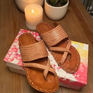 Chinese Laundry Rock Steady Leather Thong Sandals